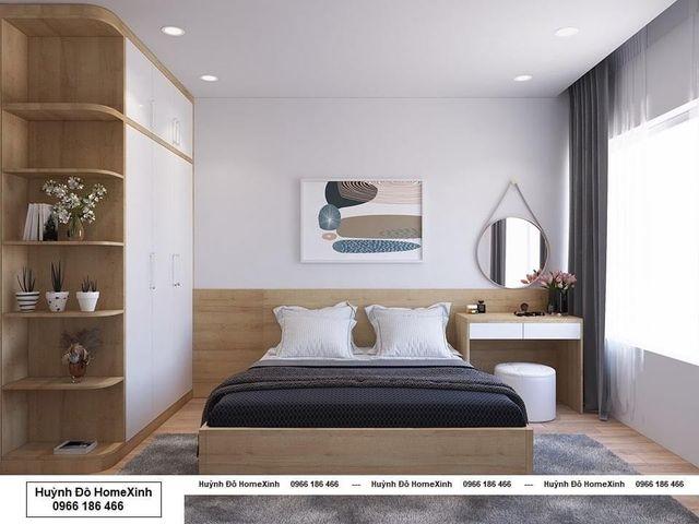 bộ giường tủ gỗ công nghiệp giá rẻ, kiểu dáng hiện đại