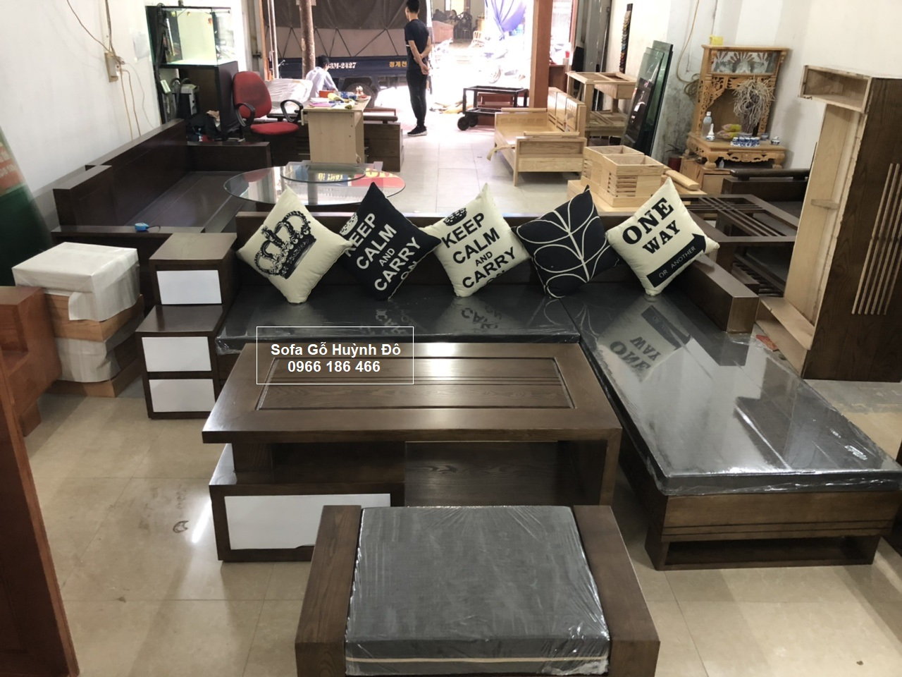 Bộ sofa gỗ hot nhất 2021 chỉ có tại nội thất Huỳnh Đô