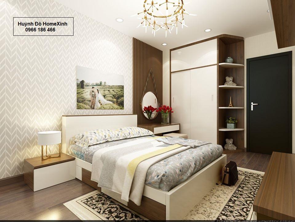 mẫu giường tủ gỗ công nghiệp giá rẻ
