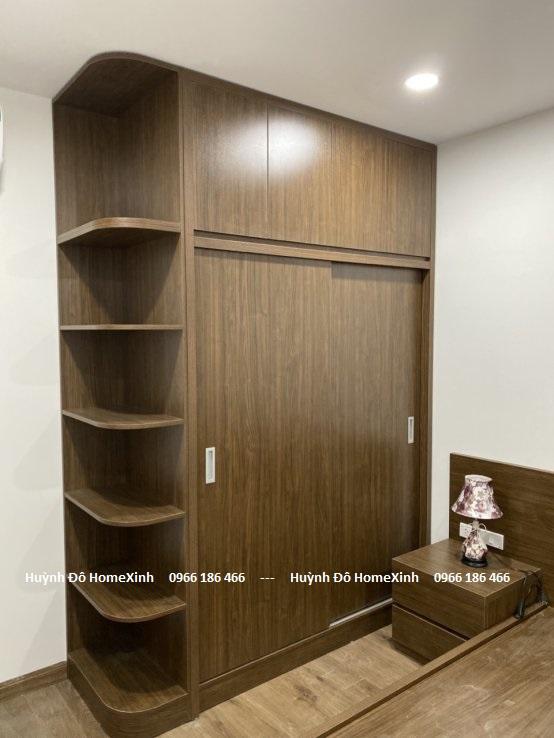 Mẫu tủ áo gỗ công nghiệp cửa lùa siêu đẹp, hiện đại