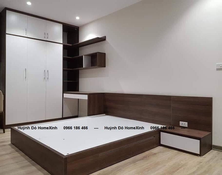 combo nội thất phòng ngủ giá rẻ, kiểu dáng hiện đai