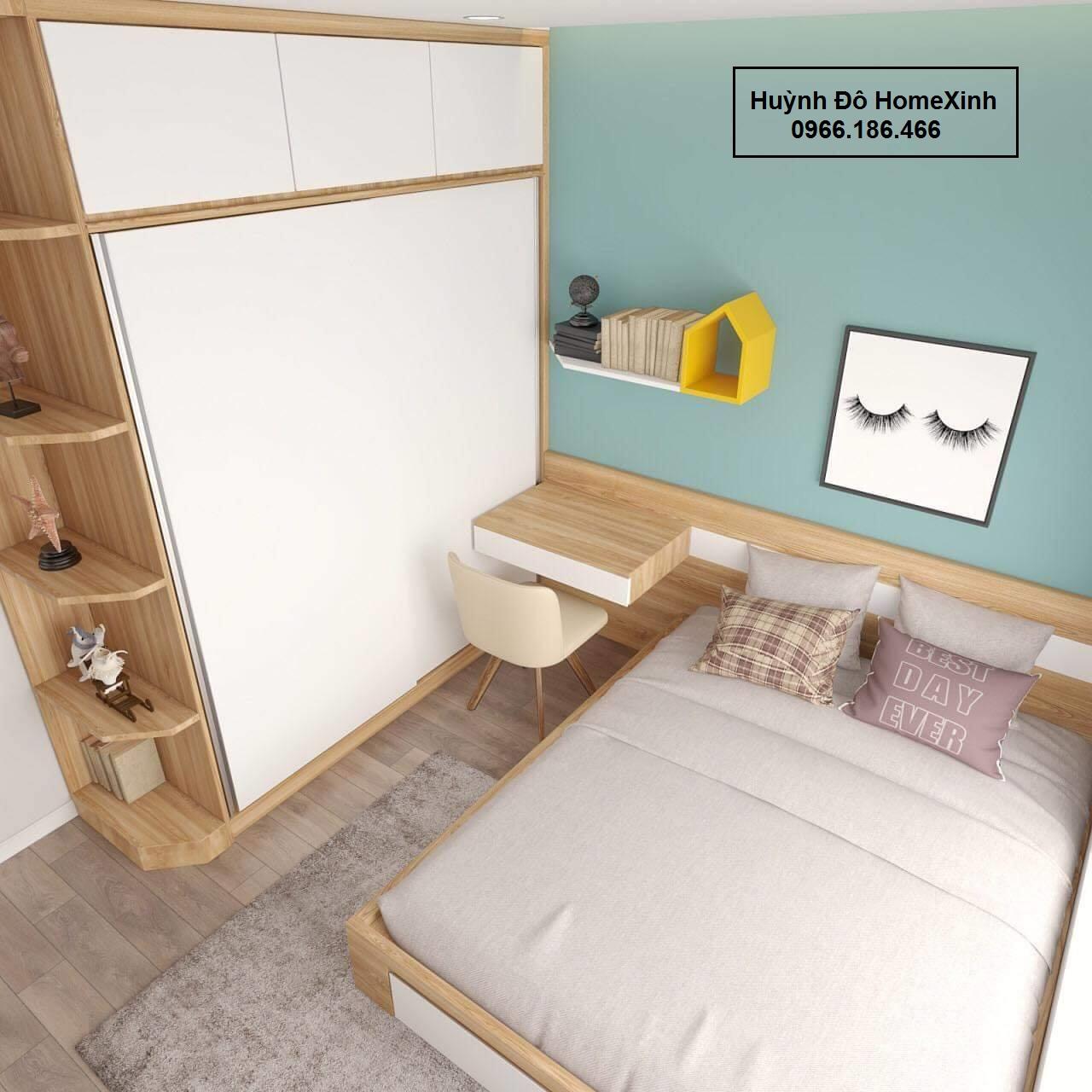 Mẫu nội thất phòng ngủ - Tủ áo cánh lùa đẹp, hiện đại