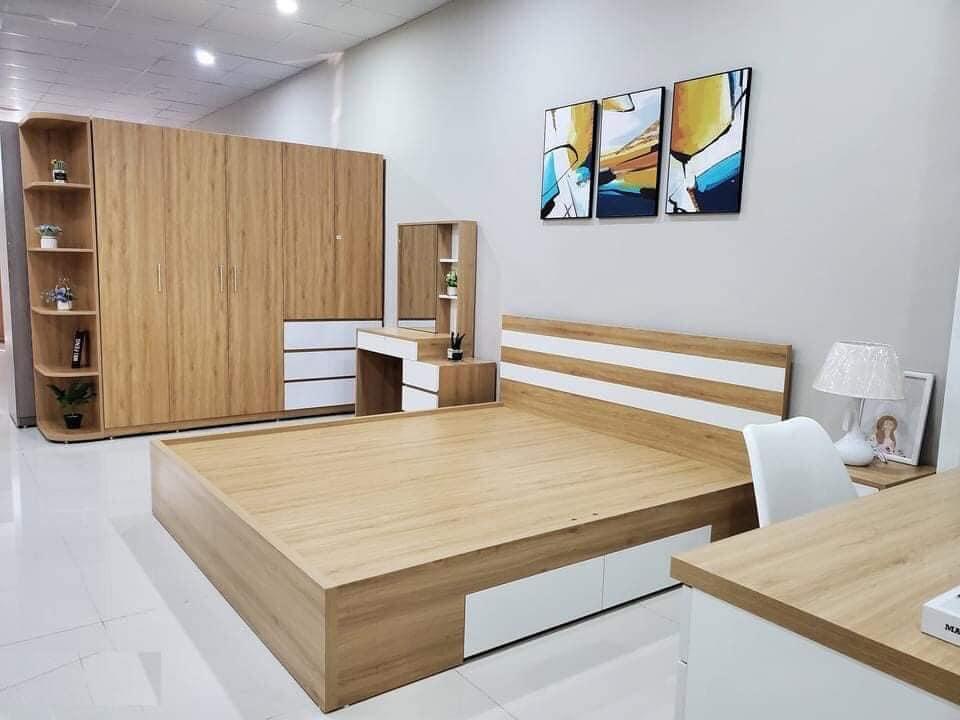 combo nội thất phòng ngủ giá rẻ, kiểu dáng đơn giản mà tiện nghi
