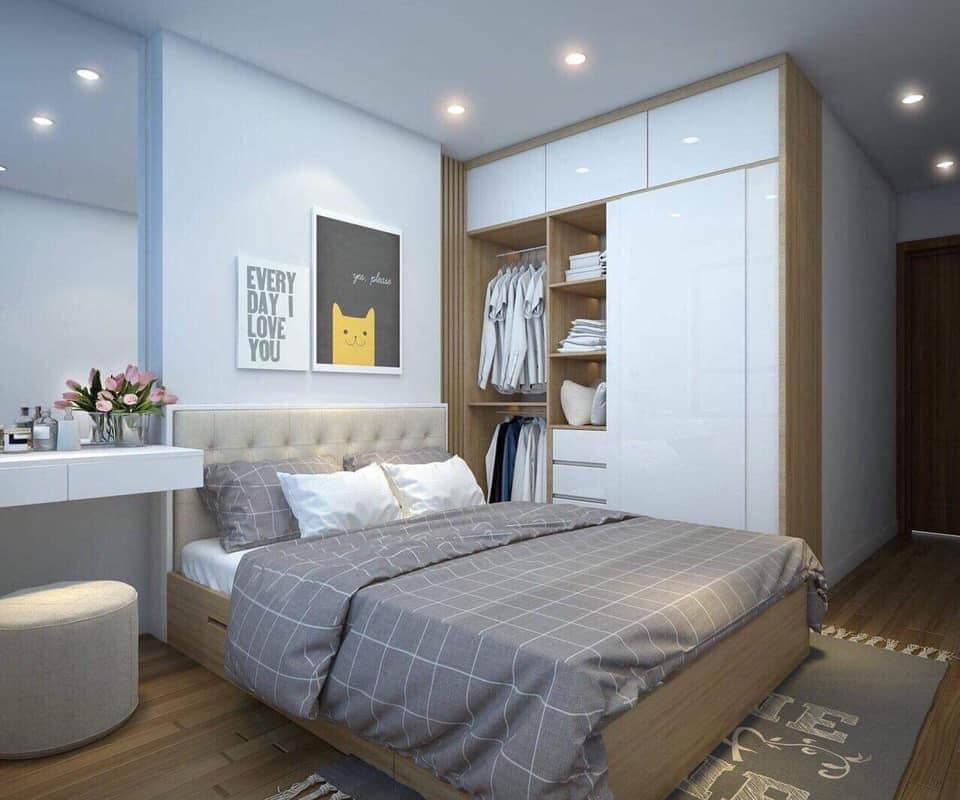 Mẫu nội thất phòng ngủ - Tủ áo cánh trượt hiện đại, Tối ưu diện tích phòng ngủ