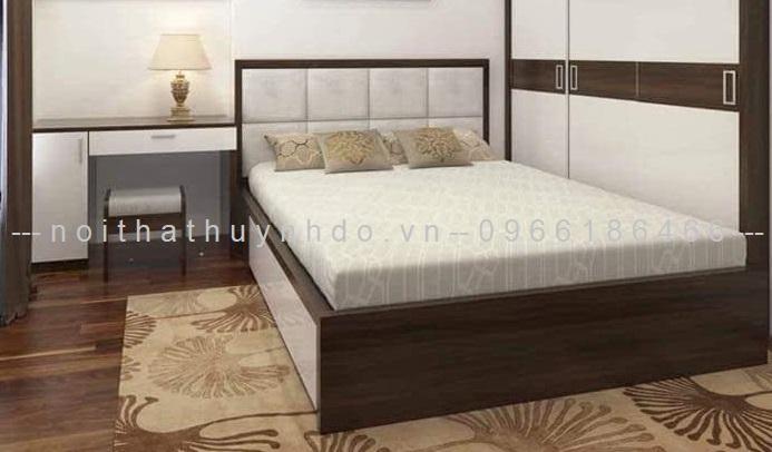 Mẫu giường bọc đệm đẹp, sang trọng 2021