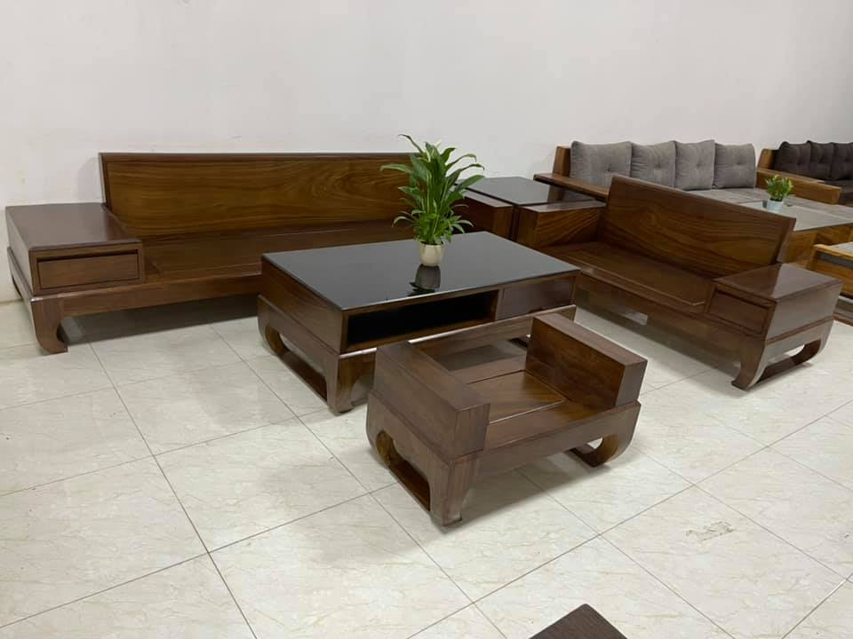 Bộ bàn ghế gỗ phòng khách đẹp, hiện đại nhất 2021