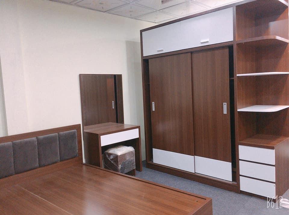 combo nội thất phòng ngủ gỗ công nghiệp đẹp, hiện đại