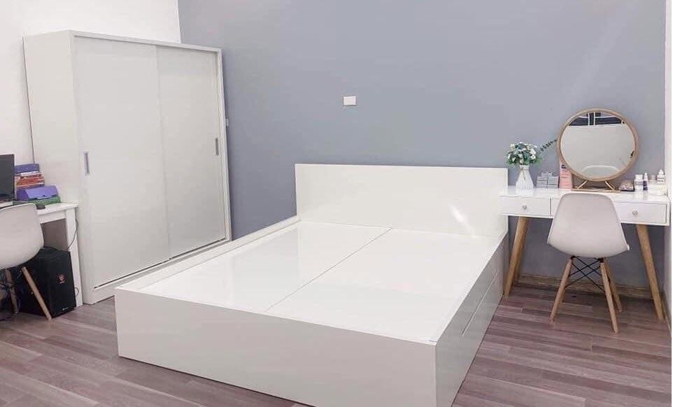 Mẫu nội thất phòng ngủ - Tủ áo cánh lùa màu trắng siêu đẹp