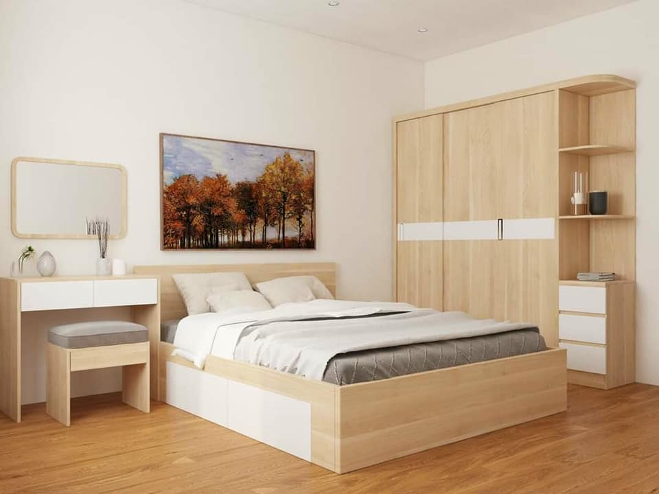 Combo nội thất phòng ngủ đẹp, giá rẻ 2021