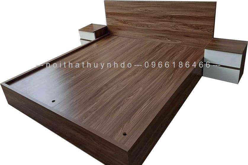 Mẫu giường ngủ gỗ công nghiệp đẹp, hiện đại 2021