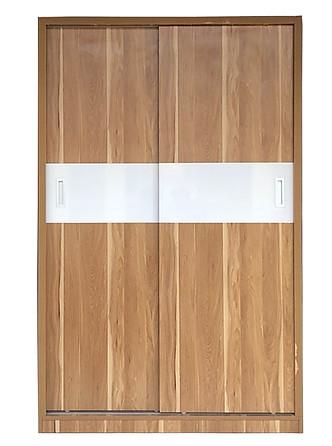 Tủ áo gỗ công nghiệp giá rẻ, kiểu dáng 2 buồng 2 cánh lùa