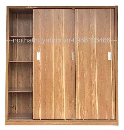 Tủ áo gỗ công nghiệp kích thước 1m6, màu 195