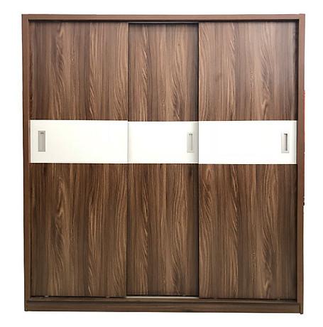Tủ áo gỗ công nghiệp giá rẻ kích thước 1m6 màu óc chó
